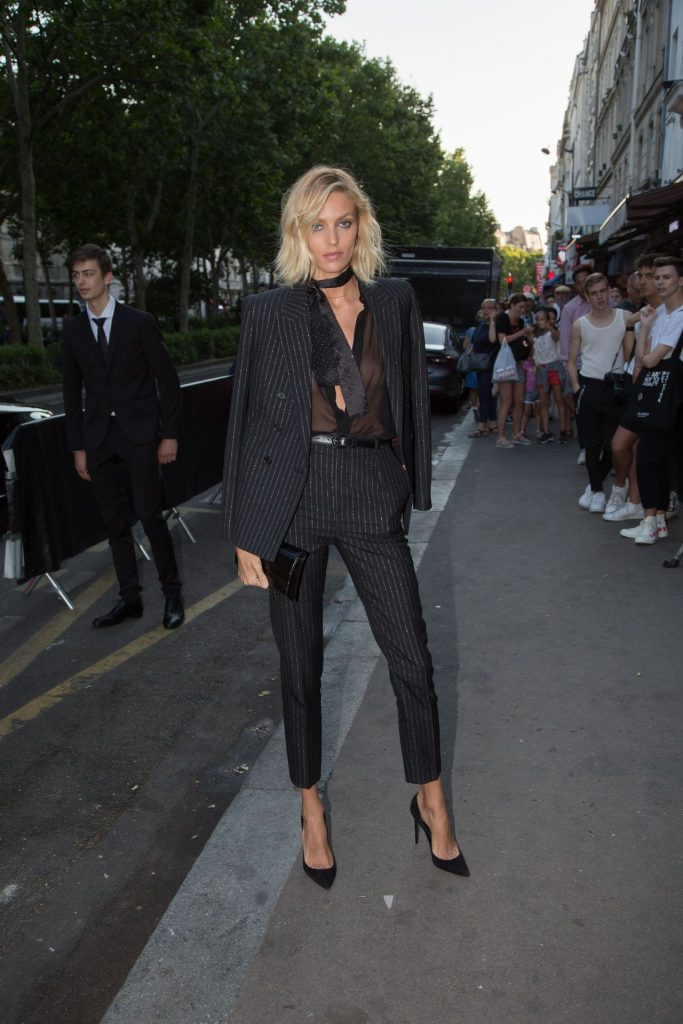 Trendy Blonde Anja Rubik Shows Her Tits in a See-Through Top gallery, pic 20