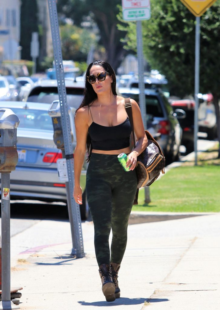 Fit Brunette Nikki Bella Showing Her Big Breasts in West Hollywood gallery, pic 11