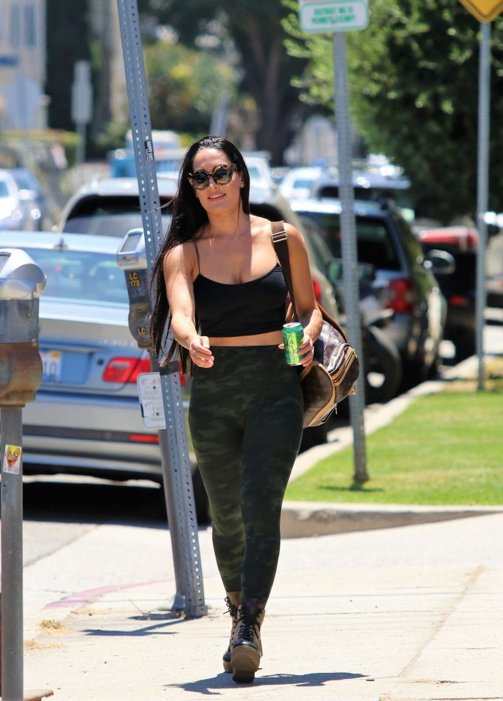 Fit Brunette Nikki Bella Showing Her Big Breasts in West Hollywood gallery, pic 13