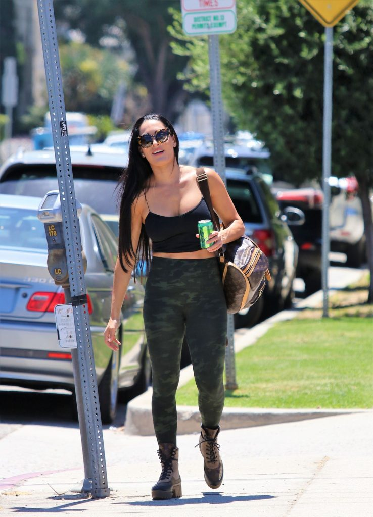 Fit Brunette Nikki Bella Showing Her Big Breasts in West Hollywood gallery, pic 20