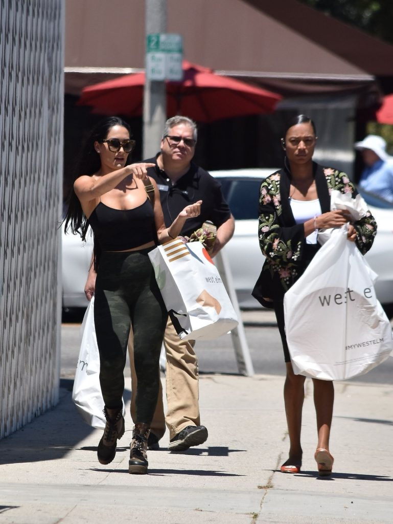 Fit Brunette Nikki Bella Showing Her Big Breasts in West Hollywood gallery, pic 55