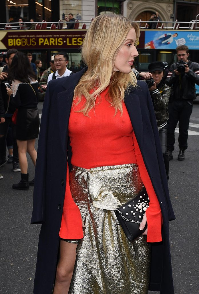Blond-Haired Singer Ellie Goulding Shows Her Amazing Pokies in a Red Top gallery, pic 4